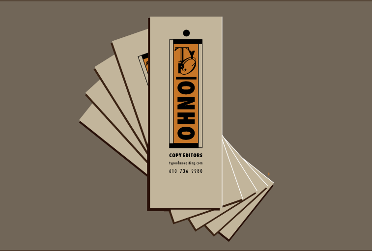 Typo Ohno Business Cards and logo
